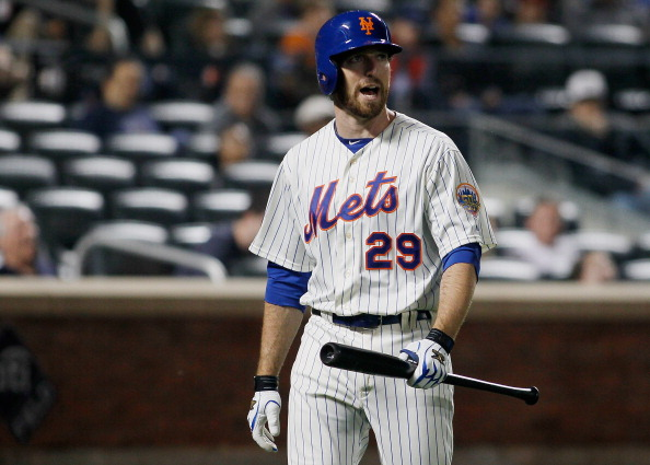 NEW YORK, NY - MAY 04:  Ike Davis #29 of the New York Mets reacts after striking out looking duirng the game against the Arizona Diamondbacks at CitiFied on May 5, 2012 in the Flushing neighborhood of the Queens borough of New York City.  (Photo by Mike Stobe/Getty Images)