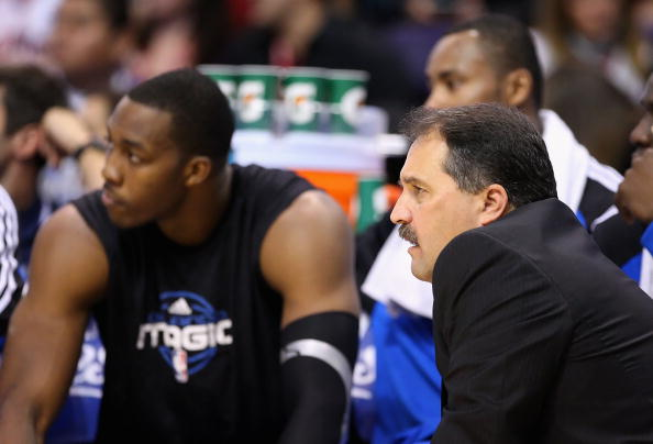 PHOENIX - DECEMBER 11:  Head coach Stan Van Gundy of the Orlando Magic looks on during the NBA game against the Phoenix Suns at US Airways Center on December 11, 2009 in Phoenix, Arizona. The Suns defeated the Magic 106-103.  NOTE TO USER: User expressly acknowledges and agrees that, by downloading and or using this photograph, User is consenting to the terms and conditions of the Getty Images License Agreement.  (Photo by Christian Petersen/Getty Images)