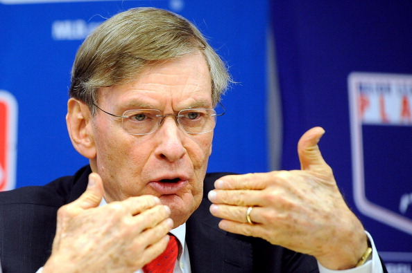 NEW YORK, NY - NOVEMBER 22:  Major League Baseball Commissioner Bud Selig speaks at a news conference at MLB headquarters on November 22, 2011 in New York City. Selig announced a new five-year labor agreement between Major League Baseball and the Major League Baseball Players Association.  (Photo by Patrick McDermott/Getty Images)