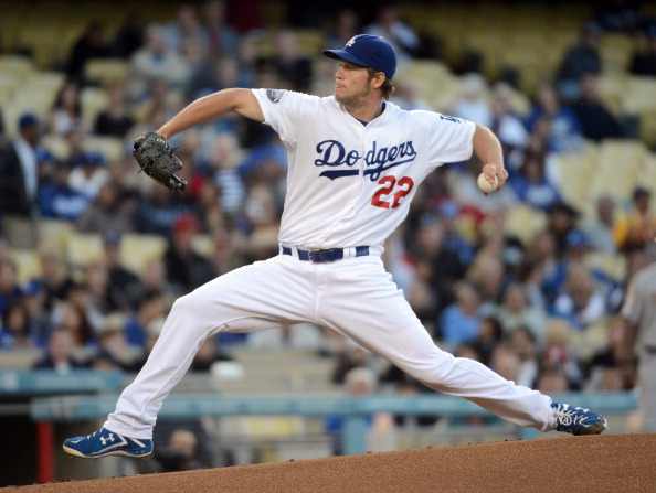 LOS ANGELES, CA - MAY 25:  Clayton Kershaw #22 of the Los Angeles Dodgers pitches during the first inning against the Houston Astros at Dodger Stadium on May 25, 2012 in Los Angeles, California.  (Photo by Harry How/Getty Images)