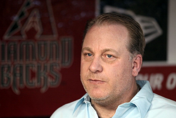 PHOENIX, AZ - SEPTEMBER 10:  Curt Schilling, former member of the 2001 Arizona Diamondbacks World Series team walks in the dugout before the Major League Baseball game against the San Diego Padres at Chase Field on September 10, 2011 in Phoenix, Arizona. The Diamondbacks are celebrating the 10th anniversary of their World Series title. (Photo by Christian Petersen/Getty Images)