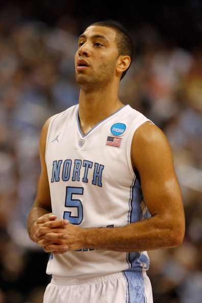 GREENSBORO, NC - MARCH 18:  Kendall Marshall #5 of the North Carolina Tar Heels looks on in the second half against the Creighton Bluejays during the third round of the 2012 NCAA Men's Basketball Tournament at Greensboro Coliseum on March 18, 2012 in Greensboro, North Carolina. Head coach Roy Williams of the Tar Heels announced that Marshall fractured his right wrist after he was fouled in the second half.  (Photo by Streeter Lecka/Getty Images)