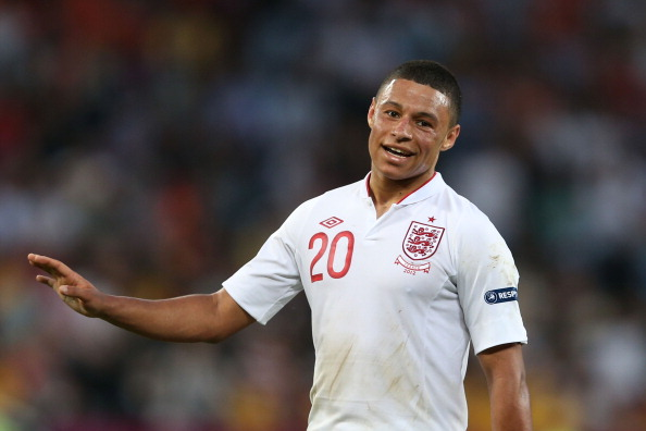 DONETSK, UKRAINE - JUNE 11: Alex Oxlade-Chamberlain of England looks on during the UEFA EURO 2012 group D match between France and England at Donbass Arena on June 11, 2012 in Donetsk, Ukraine.  (Photo by Julian Finney/Getty Images)