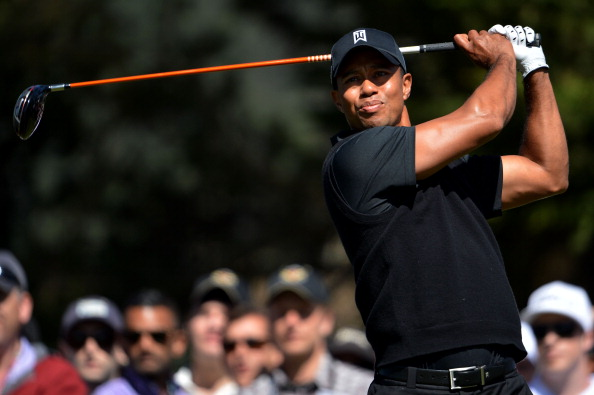 SAN FRANCISCO, CA - JUNE 15:  Tiger Woods of the United States hits a tee shot during the second round of the 112th U.S. Open at The Olympic Club on June 15, 2012 in San Francisco, California.  (Photo by Stuart Franklin/Getty Images)