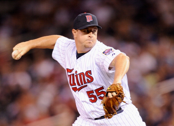 MINNEAPOLIS, MN - JUNE 8: Matt Capps #55 of the Minnesota Twins delivers a pitch against the Chicago Cubs during the tenth inning on June 8, 2012 at Target Field in Minneapolis, Minnesota. The Twins defeated the Cubs 8-7. (Photo by Hannah Foslien/Getty Images)