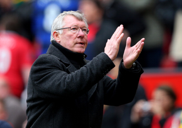 MANCHESTER, ENGLAND - APRIL 08:  Manchester United Manager Sir Alex Ferguson applauds at the end of the Barclays Premier League match between Manchester United and Queens Park Rangers at Old Trafford on April 8, 2012 in Manchester, England. (Photo by Alex Livesey/Getty Images)