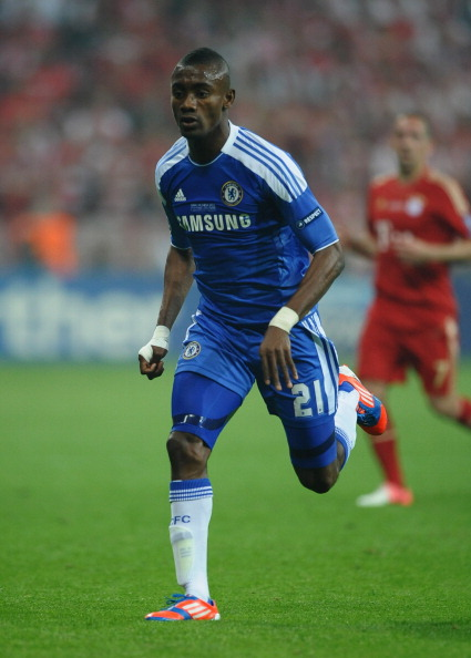MUNICH, GERMANY - MAY 19:  Salomon Kalou of Chelsea in action during UEFA Champions League Final between FC Bayern Muenchen and Chelsea at the Fussball Arena München on May 19, 2012 in Munich, Germany.  (Photo by Laurence Griffiths/Getty Images)