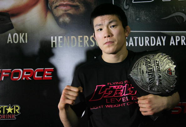 HOLLYWOOD - MARCH 17:  Dream 155-Pound Champion Shinya 'Tobikan Judan' Aoki attends the CBS' Strikeforce MMA Fighters Open Media Workout on March 17, 2010 in Hollywood, California.  (Photo by Valerie Macon/Getty Images)