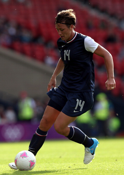 GLASGOW, SCOTLAND - JULY 25:  Abby Wambach of USA in action during the Women's Football first round Group G Match of the London 2012 Olympic Games between United States and France, at Hampden Park on July 25, 2012 in Glasgow, Scotland.  (Photo by Stanley Chou/Getty Images)