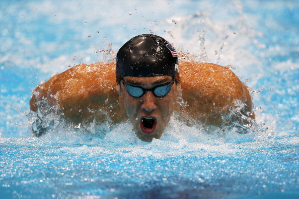 LONDON, ENGLAND - JULY 31:  Michael Phelps of the United States competes in the Men's 200m Butterfly final on Day 4 of the London 2012 Olympic Games at the Aquatics Centre on July 31, 2012 in London, England.  (Photo by Clive Rose/Getty Images)