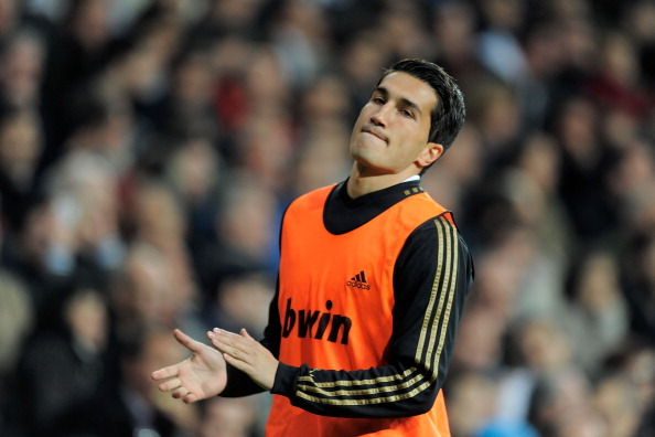 MADRID, SPAIN - MARCH 18: Nuri Sahin of Real Madrid warms up during the La Liga match between Real Madrid CF and Malaga CF at Estadio Santiago Bernabeu on March 18, 2012 in Madrid, Spain.  (Photo by Denis Doyle/Getty Images)