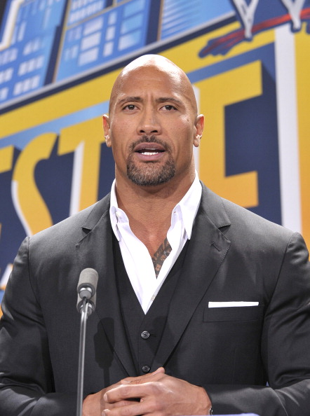 EAST RUTHERFORD, NJ - FEBRUARY 16: Dwayne 'The Rock' Johnson attends a press conference to announce that MetLife Stadium will host WWE Wrestlemania 29 in 2013 at MetLife Stadium on February 16, 2012 in East Rutherford, New Jersey. (Photo by Michael N. Todaro/Getty Images)