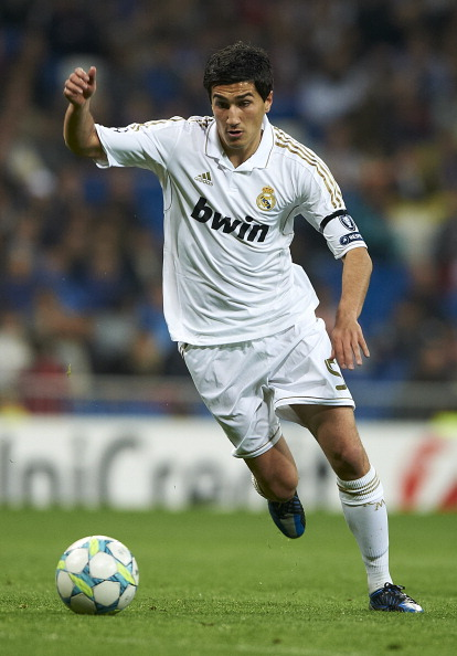 MADRID, SPAIN - APRIL 04:  Nuri Sahin of Real Madrid in action during the UEFA Champions League quarter-final second leg match between Real Madrid and APOEL FC at Bernabeu on April 4, 2012 in Madrid, Spain.  (Photo by Manuel Queimadelos Alonso/Getty Images)