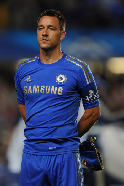 LONDON, ENGLAND - SEPTEMBER 19:  Captain John Terry of Chelsea lines up prior to  the UEFA Champions League Group E match between Chelsea and Juventus at Stamford Bridge on September 19, 2012 in London, England.  (Photo by Mike Hewitt/Getty Images)