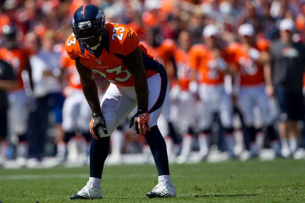 DENVER, CO - AUGUST 26:  Running back Willis McGahee #23 of the Denver Broncos in action during a pre-season game against the San Francisco 49ers at Sports Authority Field Field at Mile High on August 26, 2012 in Denver, Colorado. (Photo by Justin Edmonds/Getty Images)