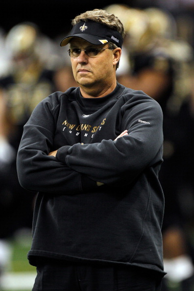 NEW ORLEANS, LA - JANUARY 07:  Defensive coordinator Gregg Williams of the New Orleans Saints looks on during warms up prior to playing against the Detroit Lions at Mercedes-Benz Superdome during their 2012 NFC Wild Card Playoff game on January 7, 2012 in New Orleans, Louisiana.  (Photo by Chris Graythen/Getty Images)