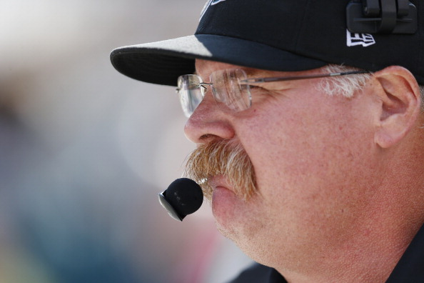 PHILADELPHIA, PA - OCTOBER 14: Philadelphia Eagles head coach Andy Reid looks on against the Detroit Lions during the game at Lincoln Financial Field on October 14, 2012 in Philadelphia, Pennsylvania. (Photo by Joe Robbins/Getty Images)