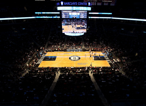 NEW YORK, NY - OCTOBER 15:  A general view of the Barclays Center as the Brooklyn Nets take on the Washington Wizards on October 15, 2012 in the Brooklyn borough of New York City. NOTE TO USER: User expressly acknowledges and agrees that, by downloading and/or using this photograph, user is consenting to the terms and conditions of the Getty Images License Agreement.  (Photo by Alex Trautwig/Getty Images)