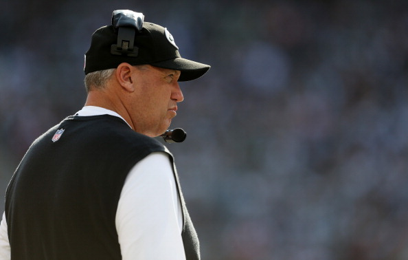 EAST RUTHERFORD, NJ - OCTOBER 14:  Head coach of the New York Jets, Rex Ryan looks on against the Indianapolis Colts at MetLife Stadium on October 14, 2012 in East Rutherford, New Jersey.  (Photo by Nick Laham/Getty Images)