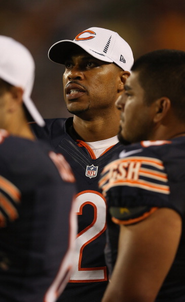 CHICAGO, IL - AUGUST 09: Jason Campbell #2 of the Chicago Bears watches as his teammates take on the Denver Broncos during a preseason game at Soldier Field on August 9, 2012 in Chicago, Illinois. The Broncos defeated the Bears 31-3.  (Photo by Jonathan Daniel/Getty Images)