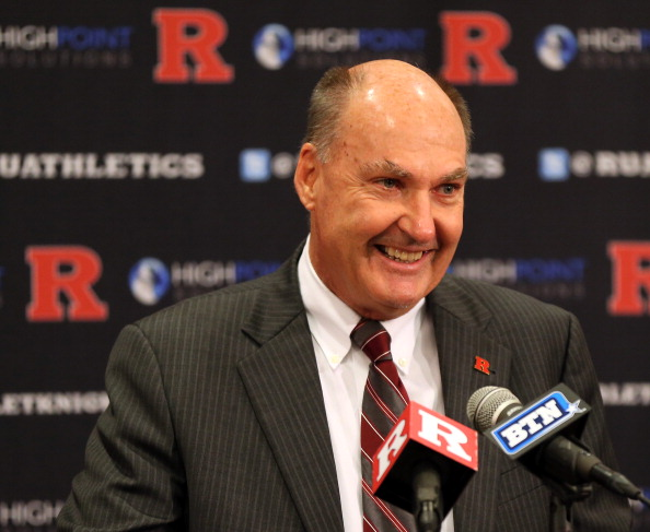 PISCATAWAY, NJ - NOVEMBER 20:  Big Ten Commissioner Jim Delany makes his opening remarks during a press conference announcing that Rutgers University is joining the Big Ten Conference on November 20, 2012 at the Hale Center in Piscataway, New Jersey.  (Photo by Elsa/Getty Images)