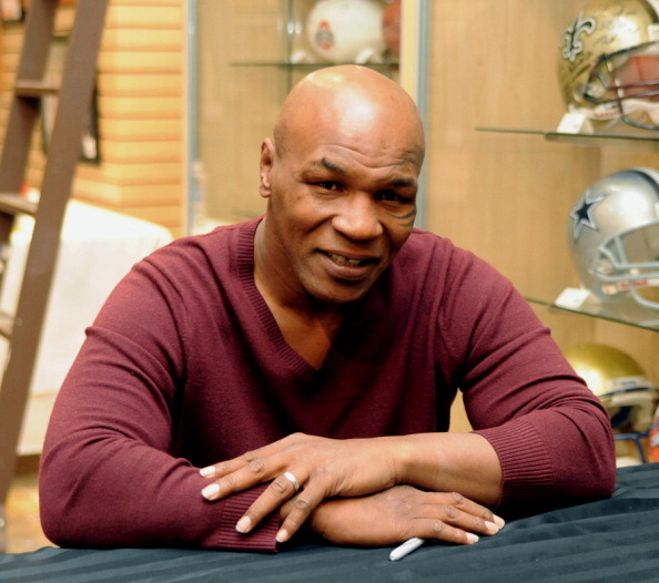LAS VEGAS - FEBRUARY 4:  In this handout photo provided by Las Vegas News Bureau, former heavyweight boxing champion Mike Tyson attends an autograph-signing session  in the Miracle Mile Shops at Planet Hollywood Resort & Casino on February 4, 2011 in Las Vegas, Nevada. (Photo by Darrin Bush/Las Vegas News Bureau via Getty Images)