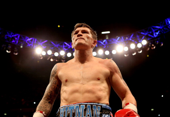 MANCHESTER, ENGLAND - NOVEMBER 24:  Ricky Hatton of Great Britain prior to his  Welterweight bout with Vyacheslav Senchenko of Ukraine at the MEN Arena on November 24, 2012 in Manchester, England.  (Photo by Scott Heavey/Getty Images)