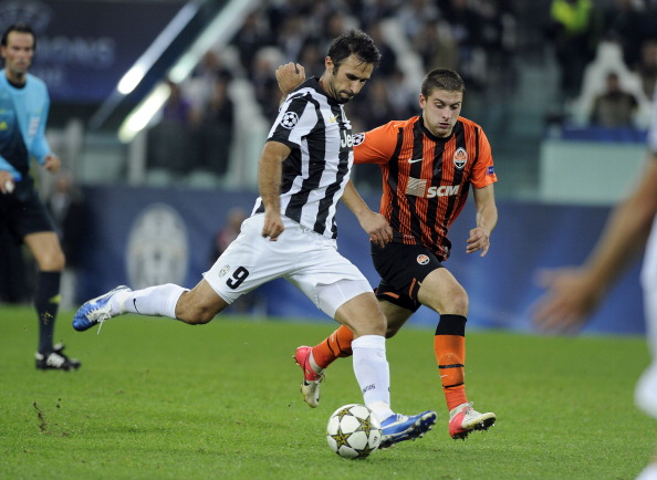 TURIN, ITALY - OCTOBER 02:  Mirko Vucinic of Juventus FC during the UEFA Champions League Group E match between Juventus FC and Shakhtar Donetsk at Juventus Arena on October 2, 2012 in Turin, Italy.  (Photo by Claudio Villa/Getty Images)