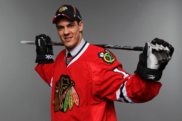 ST PAUL, MN - JUNE 25:  36th overall pick Adam Clendeningv by the Chicago Blackhawks poses for a photo portrait during day two of the 2011 NHL Entry Draft at Xcel Energy Center on June 25, 2011 in St Paul, Minnesota.  (Photo by Nick Laham/Getty Images)
