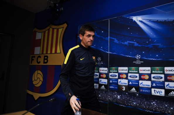 BARCELONA, SPAIN - OCTOBER 22:  Head coach Tito Vilanova of FC Barcelona arrives for a press conference ahead their UEFA Champions League Group G match between FC Barcelona and Celtic FC at the Camp Nou Stadium on October 22, 2012 in Barcelona, Spain.  (Photo by David Ramos/Getty Images)