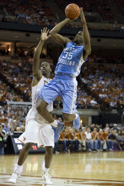 AUSTIN, TX - DECEMBER 19:  Reggie Bullock #35 of the University of North Carolina Tar Heels shoots the ball against the University of Texas Longhorns on December 19, 2012 at the Frank Erwin Center in Austin, Texas.  (Photo by Cooper Neill/Getty Images)