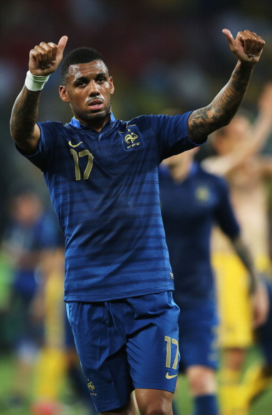 DONETSK, UKRAINE - JUNE 15: Yann M'Vila of France acknowledges the fans after the UEFA EURO 2012 group D match between Ukraine and France at Donbass Arena on June 15, 2012 in Donetsk, Ukraine.  (Photo by Ian Walton/Getty Images)