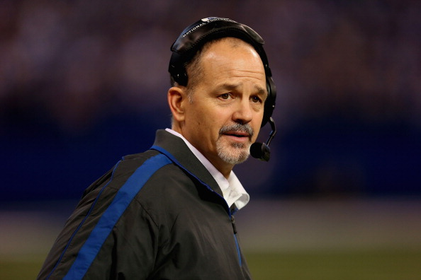 INDIANAPOLIS, IN - DECEMBER 30:  Head coach Chuck Pagano of the Indianapolis Colts returns to the sidelines after treatment for leukemia for a game against the Houston Texans at Lucas Oil Stadium on December 30, 2012 in Indianapolis, Indiana. The Colts defeated the Texans 28-16.  (Photo by Jonathan Daniel/Getty Images)