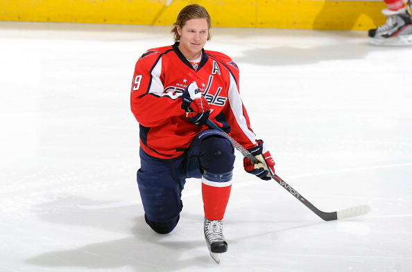 WASHINGTON, DC - MARCH 31:  Nicklas Backstrom #19 of the Washington Capitals warms up before the game against the Montreal Canadiens at the Verizon Center on March 31, 2012 in Washington, DC.  (Photo by Greg Fiume/Getty Images)