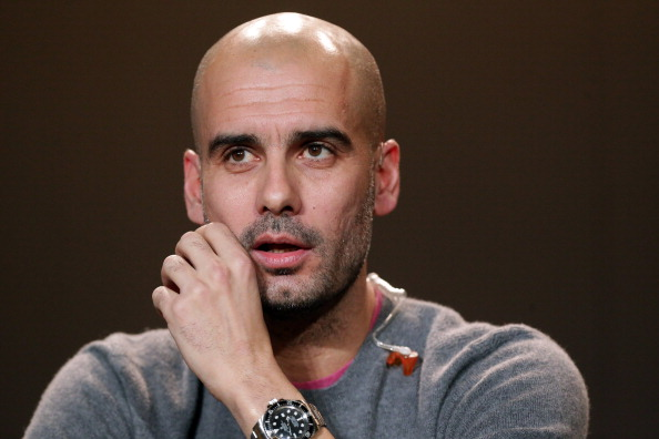 ZURICH, SWITZERLAND - JANUARY 07: Pep Guardiola, former head coach of Barcelona attends the Press Conference with nominees for World Player of the Year and World Coach of the Year for Men's Football on January 7, 2013 at Congress House in Zurich, Switzerland. (Photo by Christof Koepsel/Getty Images)