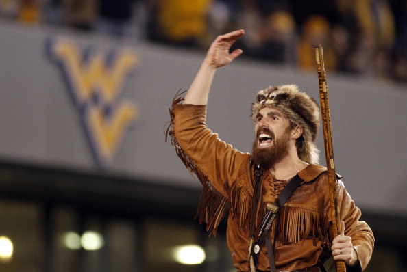 MORGANTOWN, WV - NOVEMBER 17:  The West Virginia Mountaineer pumps up the crowd against the Oklahoma Sooners during the game on November 17, 2012 at Mountaineer Field in Morgantown, West Virginia.  (Photo by Justin K. Aller/Getty Images)