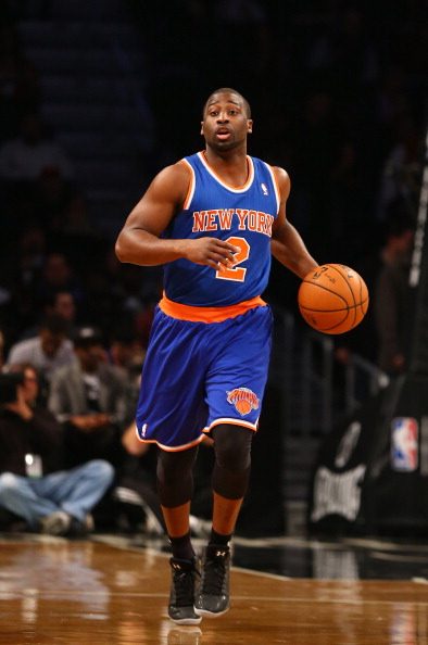 NEW YORK, NY - DECEMBER 11:  Raymond Felton #2 of the New York Knicks in action during their game against the Brooklyn Nets at the Barclays Center on December 11, 2012 in the Brooklyn borough of New York City. NOTE TO USER: User expressly acknowledges and agrees that, by downloading and/or using this photograph, user is consenting to the terms and conditions of the Getty Images License Agreement.  (Photo by Al Bello/Getty Images)