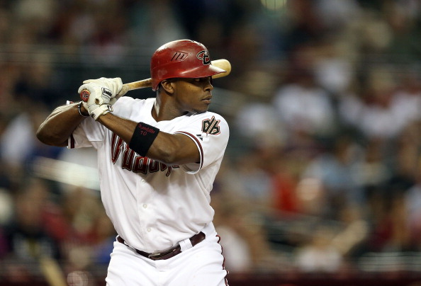 PHOENIX, AZ - OCTOBER 02:  Justin Upton #10 of the Arizona Diamondbacks bats against the Colorado Rockies during the MLB game at Chase Field on October 2, 2012 in Phoenix, Arizona.  (Photo by Christian Petersen/Getty Images)