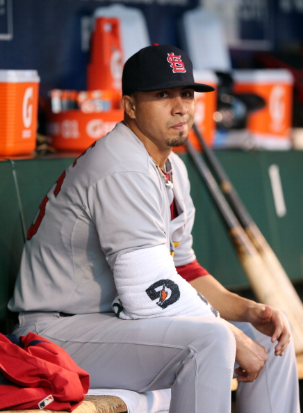 SAN FRANCISCO, CA - OCTOBER 22:  Pitcher Kyle Lohse #26 of the St. Louis Cardinals reacts in the dugout while taking on the San Francisco Giants in Game Seven of the National League Championship Series at AT&T Park on October 22, 2012 in San Francisco, California.  (Photo by Christian Petersen/Getty Images)