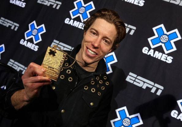 ASPEN, CO - JANUARY 27:  Shaun White of the USA poses with his gold medal from the Men's Snowboard Superpipe Final at Winter X Games Aspen 2013 at Buttermilk Mountain on January 27, 2013 in Aspen, Colorado. It was the sixth consecutive Winter X Games Snowboard Superpipe gold medals for White.  (Photo by Doug Pensinger/Getty Images)