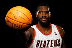 Dec 16, 2011; Portland, OR, USA; Portland Trailblazers center Greg Oden (52) poses for a photo during media day at the Rose Garden. Mandatory Credit: Craig Mitchelldyer-USA TODAY Sports