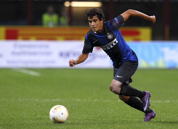 MILAN, ITALY - SEPTEMBER 20:  Correia Philippe Coutinho of FC Internazionale Milano in action during the UEFA Europa League group H match between FC Internazionale Milano and FC Rubin Kazan at Giuseppe Meazza Stadium on September 20, 2012 in Milan, Italy.  (Photo by Marco Luzzani/Getty Images)