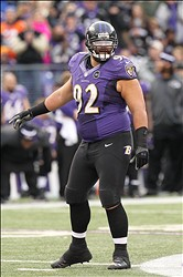 Jan 6, 2013; Baltimore, MD, USA; Baltimore Ravens tackle Haloti Ngata (92) in action against the Indianapolis Colts for the AFC Wild Card playoff game at M&T Bank Stadium.  Mandatory Credit: Mitch Stringer-USA TODAY Sports