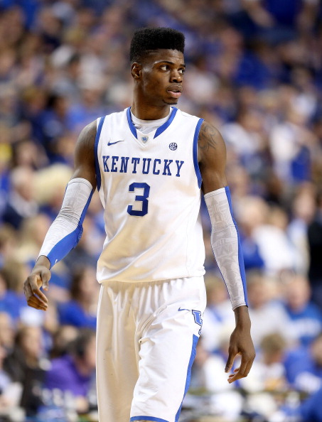 LEXINGTON, KY - JANUARY 26:  Nerlens Noel #3 of the Kentucky Wildcats watches the action during the game against the LSU Tigers at Rupp Arena on January 26, 2013 in Lexington, Kentucky.  (Photo by Andy Lyons/Getty Images)