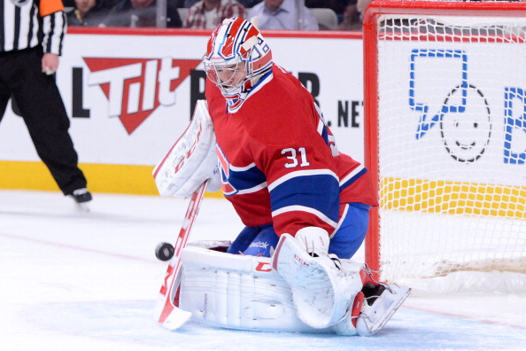 MONTREAL, CANADA - FEBRUARY 3: Carey Price #31 of the Montreal Canadiens stops the puck during the NHL game against the Ottawa Senators at the Bell Centre on February 3, 2013 in Montreal, Quebec, Canada. The Canadiens defeated the Senators 2-1. (Photo by Richard Wolowicz/Getty Images)