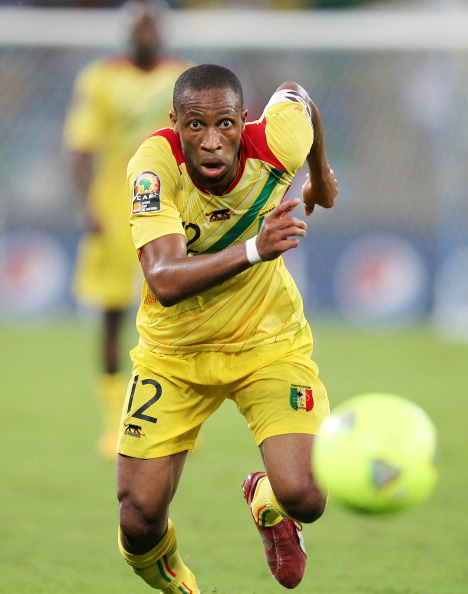 DURBAN, SOUTH AFRICA - FEBRUARY 06: Seydou Keita of Mali during the 2013 African Cup of Nations Semi-Final match between Mali and Nigeria at Moses Mahbida Stadium on February 06, 2013 in Durban, South Africa. (Photo by Steve Haag/Getty Images)
