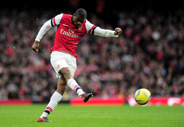 LONDON, ENGLAND - FEBRUARY 16:  Abou Diaby of Arsenal takes a shot on goal during the FA Cup with Budweiser fifth round match between Arsenal and Blackburn Rovers at Emirates Stadium on February 16, 2013 in London, England.  (Photo by Shaun Botterill/Getty Images)
