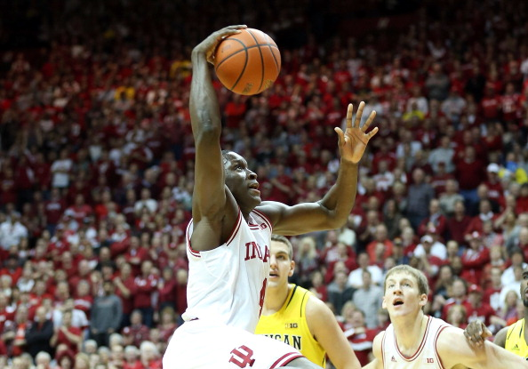 BLOOMINGTON, IN - FEBRUARY 02: Victor Oladipo #4 of the Indiana Hoosiers shoots the ball during the game against the Michigan Wolverines at Assembly Hall on February 2, 2013 in Bloomington, Indiana.  (Photo by Andy Lyons/Getty Images)