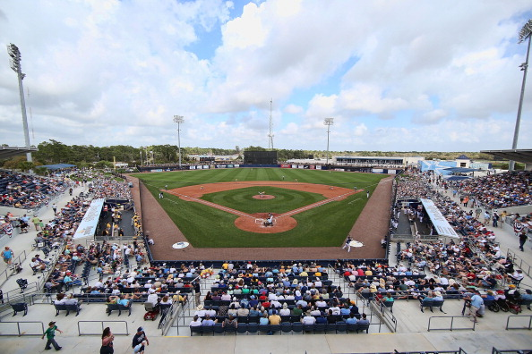 PORT CHARLOTTE, FL - FEBRUARY 23: Charlotte Sports Park during the game between the Pittsburgh Pirates and the Tampa Bay Rays on February 23, 2013 in Port Charlotte, Florida. The Pirates defeated the Rays' 3-2. (Photo by Leon Halip/Getty Images)