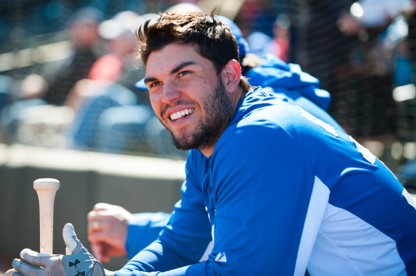 SURPRISE, AZ - FEBRUARY 24: Eric Hosmer #35 of the Kansas City Royals looks on before a spring training game against the Texas Rangers at Surprise Stadium on February 24, 2013 in Surprise, Arizona. (Photo by Rob Tringali/Getty Images)